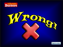 Affordable Buzzers Quiz Game Software Wrong Answer Screen